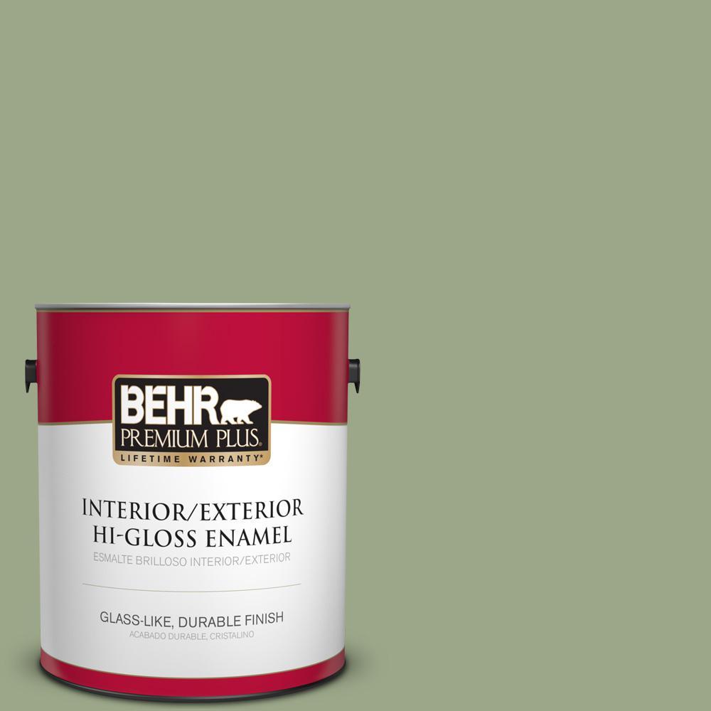 1 gal. #PPU11-07 Clary Sage Hi-Gloss Enamel Interior/Exterior Paint