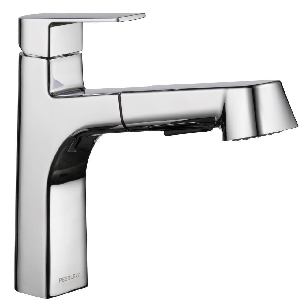 Peerless Xander Single-Handle Pull-Out Sprayer Kitchen Faucet in ...