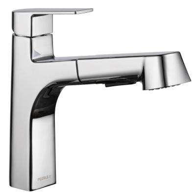Xander Single-Handle Pull-Out Sprayer Kitchen Faucet in Chrome