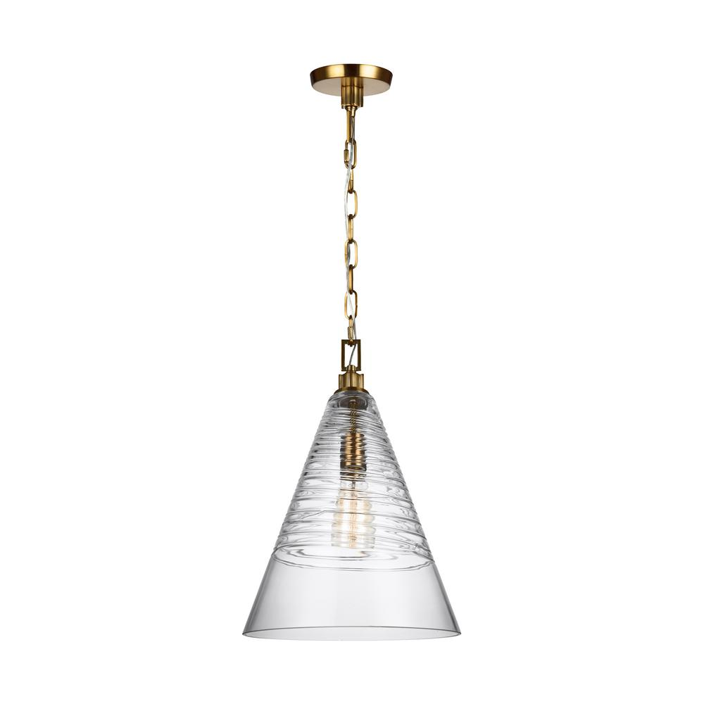 Elmore 1-Light Burnished Brass Pendant
