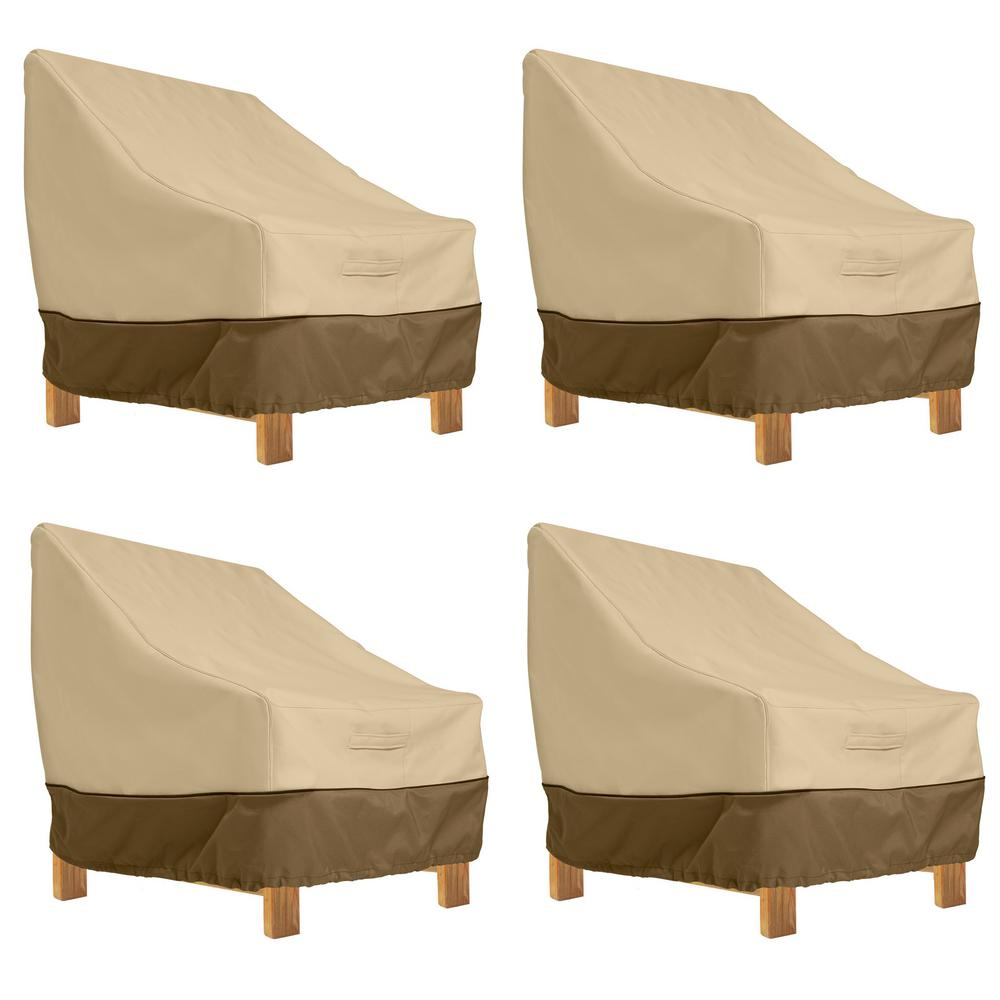 Veranda Deep Seated Patio Lounge Chair Cover (4-Pack)