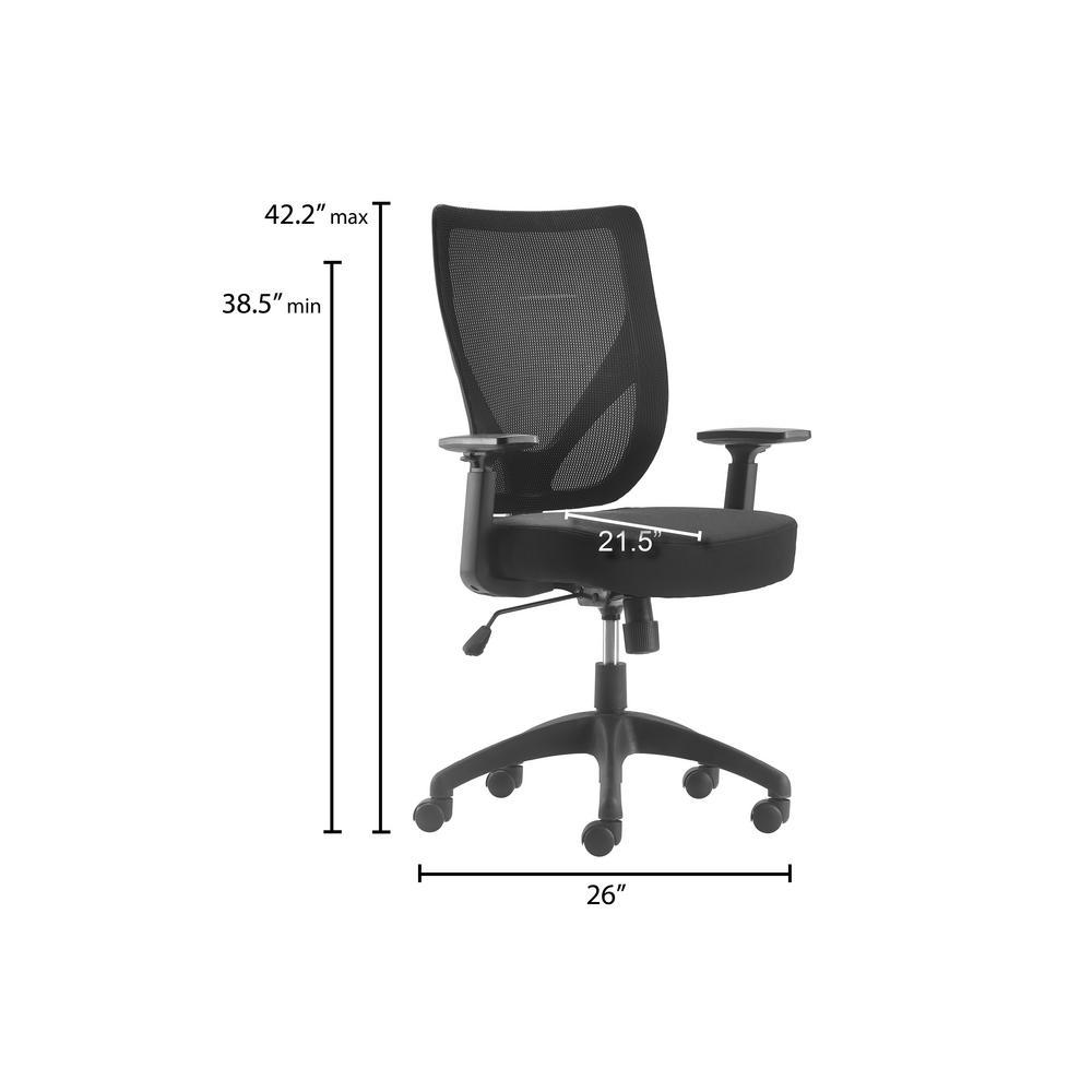 Peachy Serta Works Ergonomic Mesh Black Office Chair With Nylon Pdpeps Interior Chair Design Pdpepsorg