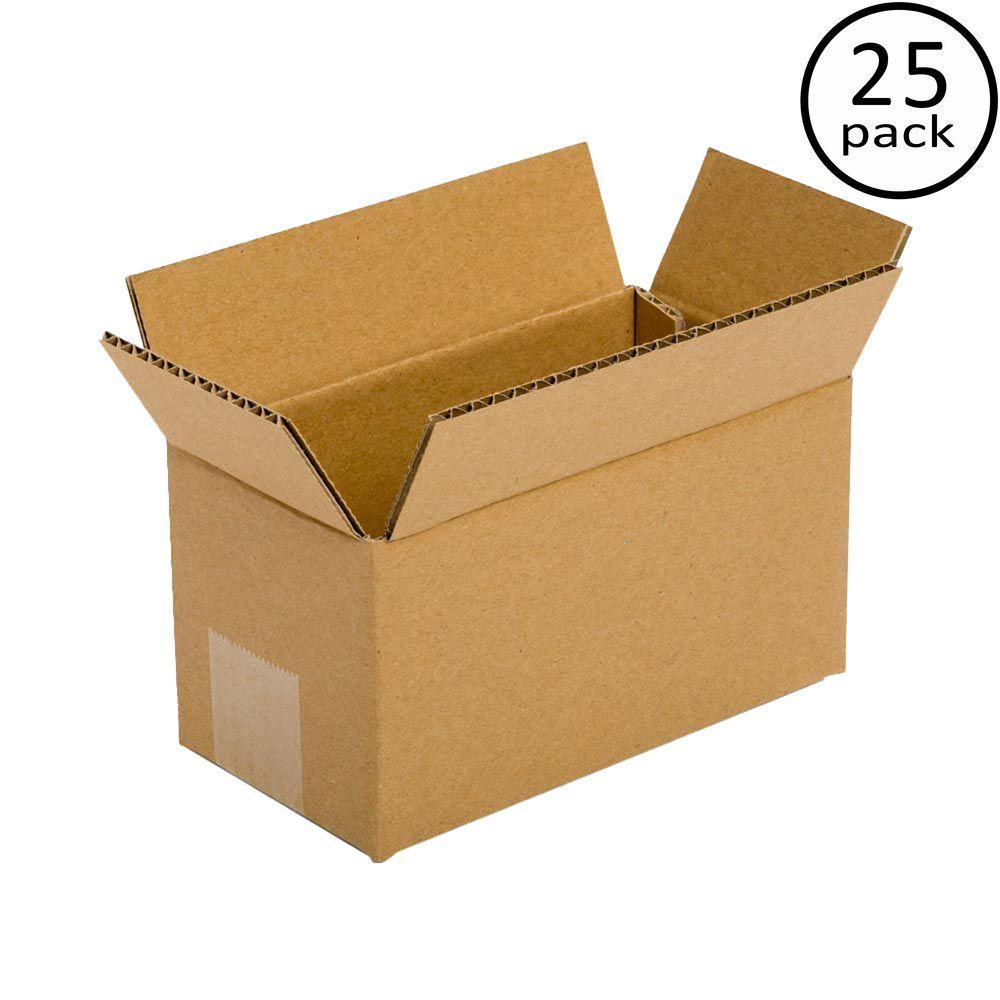 9 in. L x 6 in. W x 6 in. D Box (25-Pack)