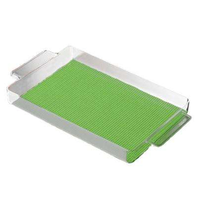 Fishnet Rectangular Serving Tray in Lime Green