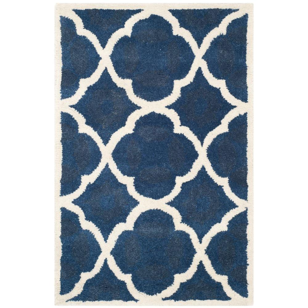 Chatham Blue/Ivory 3 ft. x 5 ft. Area Rug