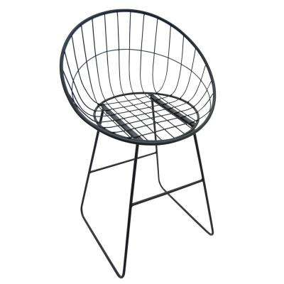 37 in. Black Metal Chair