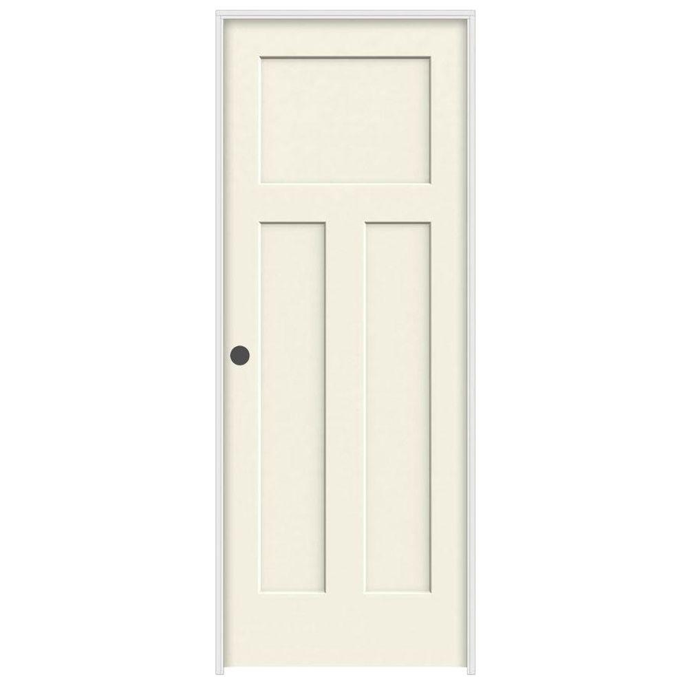 home depot jeld wen interior doors jeld wen 30 in x 80 in craftsman vanilla painted right 26758