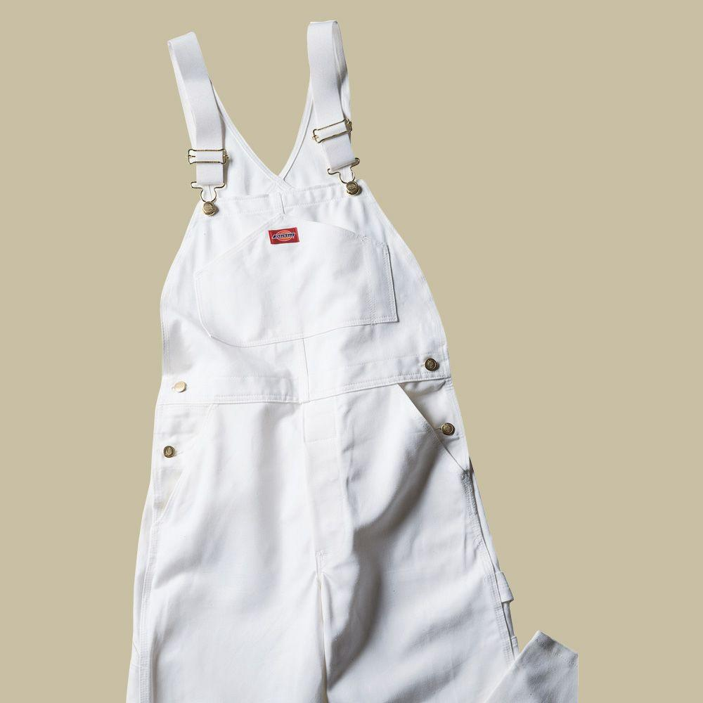 Dickies Relaxed Fit 44-30 White Painters Bib Overall