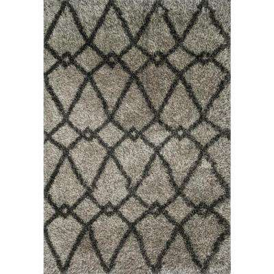 Cosma Lifestyle Collection Grey/Charcoal 7 ft. 7 in. x 10 ft. 5 in. Area Rug