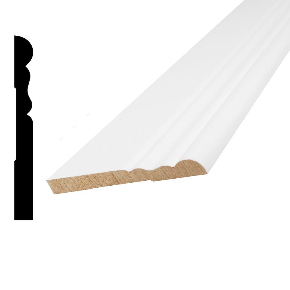 Alexandria Moulding WM 105 3/4 in. x 3/4 in. x 96 in. Poplar Wood ...