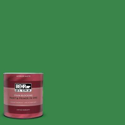 1 qt. #450B-7 Green Grass Matte Interior Paint and Primer in One