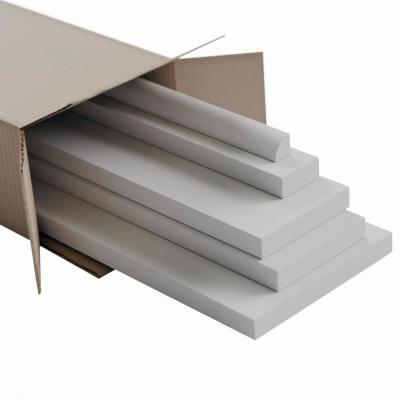 5/8 in. X 96 in. X 3-1/2 in. Expanded Cellular PVC Deluxe Wainscot Moulding System
