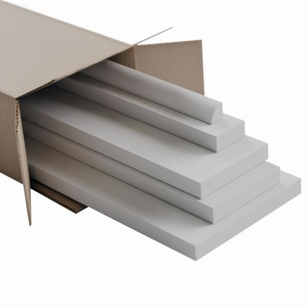 5/8 in. x 96 in. x 5-1/2 in. Expanded Cellular PVC Deluxe Wainscot Moulding System