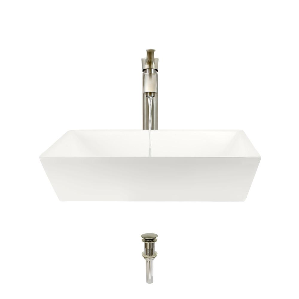 Mr Direct Porcelain Vessel Sink In Bisque With 726 Faucet