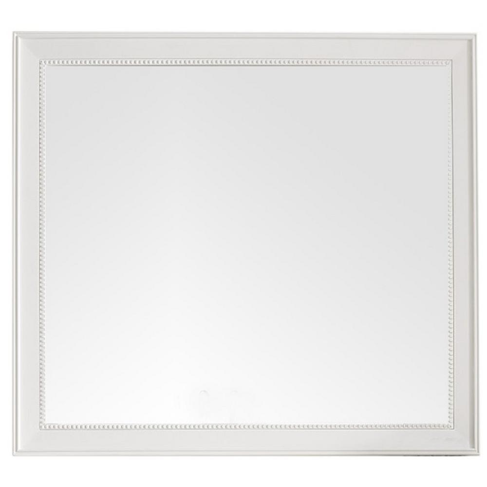 Bristol 44 in. W x 40 in. H Single Framed Wall Mirror in Bright White