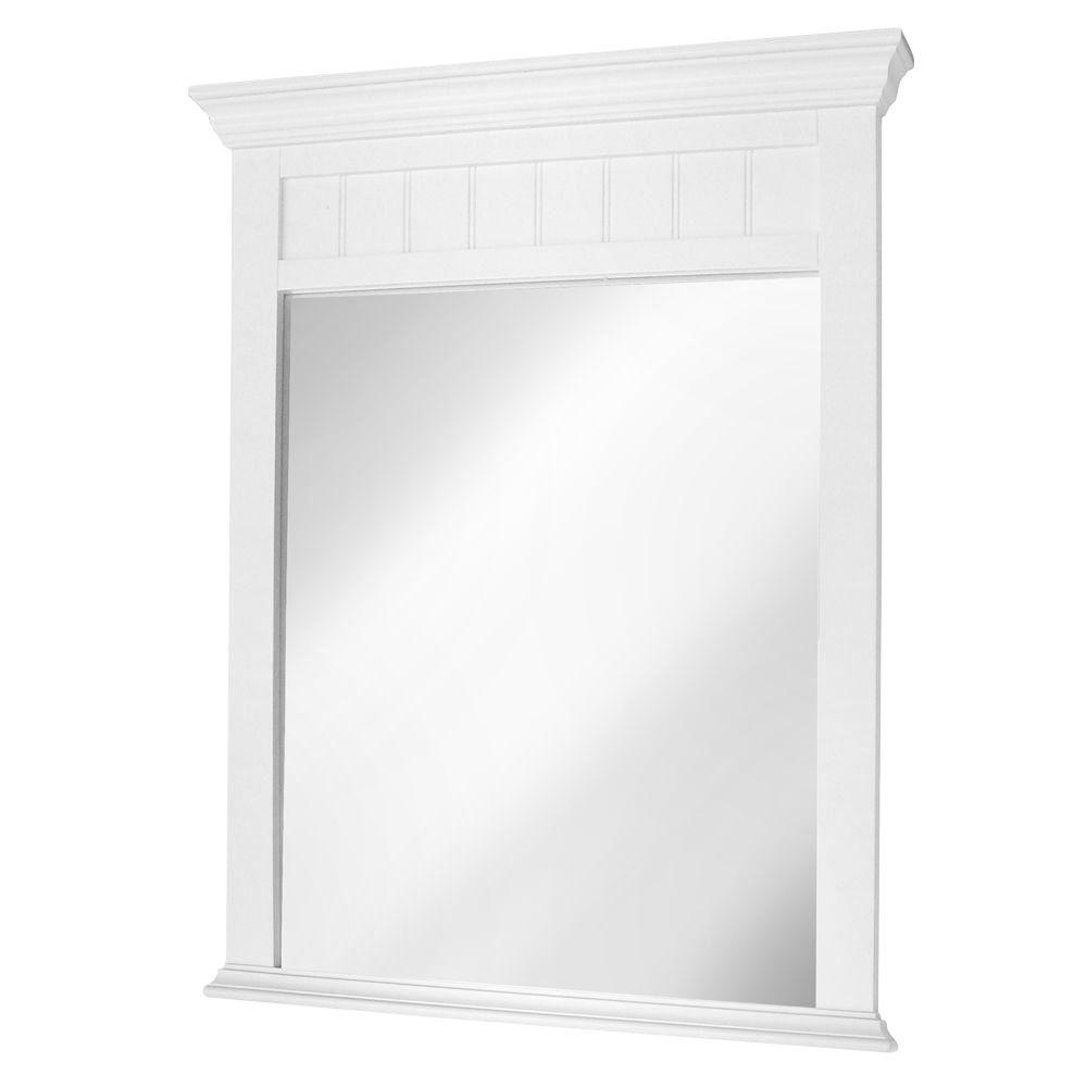 Foremost Westchester 30.125 in. Wall Mirror in White-DISCONTINUED