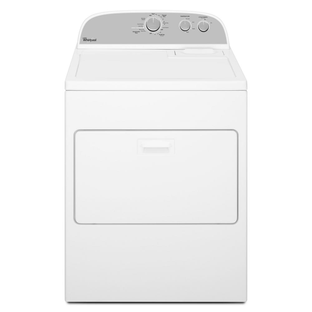 5.9 cu. ft. 120-Volt White Gas Vented Dryer with Wrinkle Shield