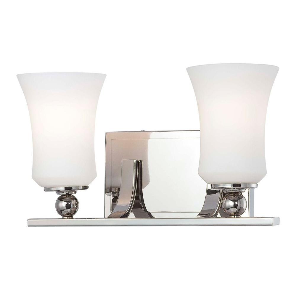 Minka Lavery Ameswood 2-Light Polished Nickel Bath Light