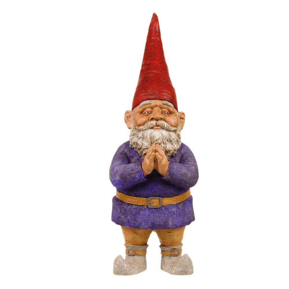Gnome Garden Statue 21 Inch Fiberglass Outdoor Garden Home Yard Decor  Accessory