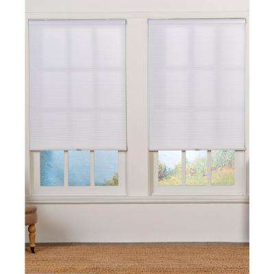 Cut-to-Width White 1.5 in. Light Filter Cordless Double Cellular Shade - 33.5 in. W x 72 in. L