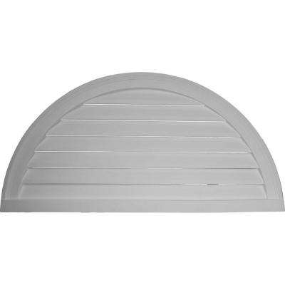 2 in. x 60 in. x 30 in. Functional Half Round Gable Louver Vent