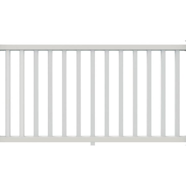Veranda 6 Ft X 36 In Select White Vinyl Rail Kit With Square Balusters 73012418 The Home Depot