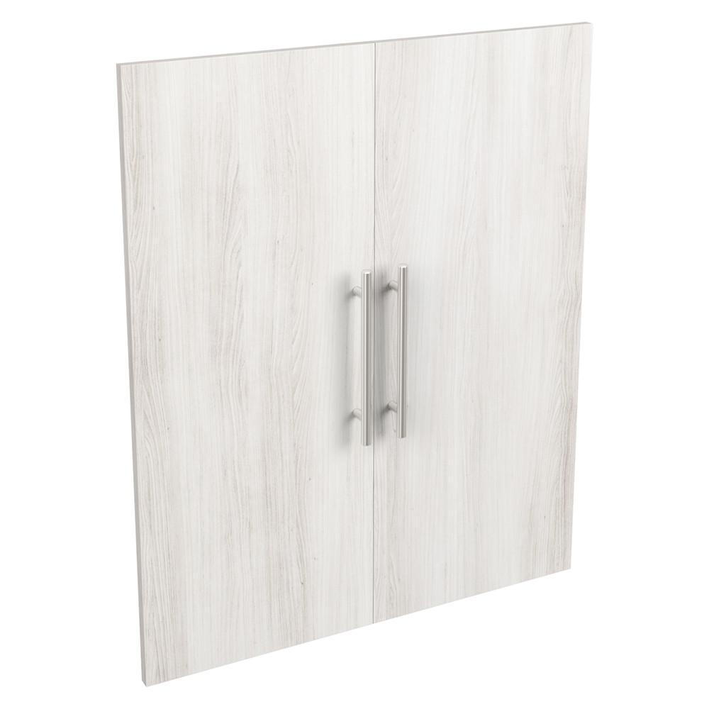 Style+ 25 in. W Modern Bleached Walnut Closet Door Kit