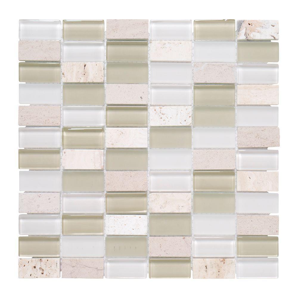 Cottage Print Mosaic Tile Jeffrey Court Kitchen