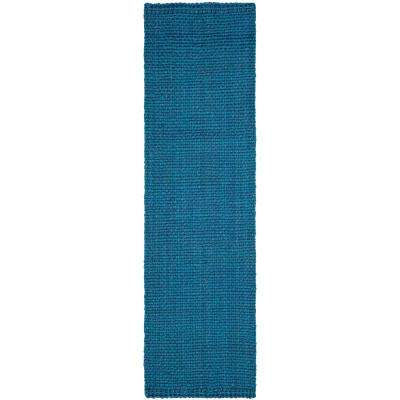 Natural Fiber Blue 2 ft. 3 in. x 10 ft. Runner Rug