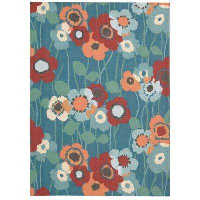 Pic-A-Poppy Bluebell 8 ft. x 11 ft. Indoor/Outdoor Area Rug