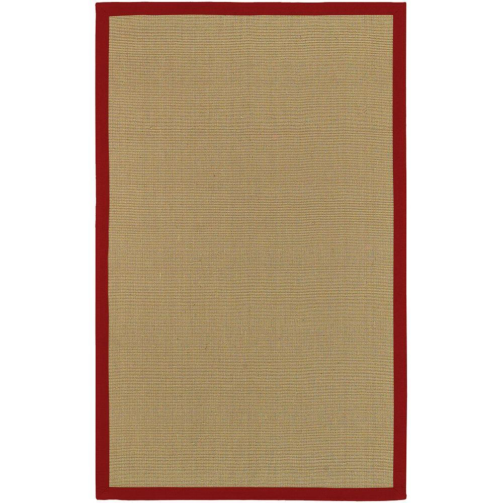 Artistic Weavers Border Town Red 6 ft. x 9 ft. Area Rug