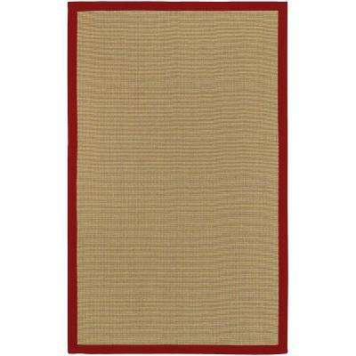 Border Town Red 6 ft. x 9 ft. Area Rug