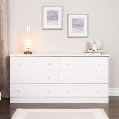 Edenvale 6-Drawer White Dresser