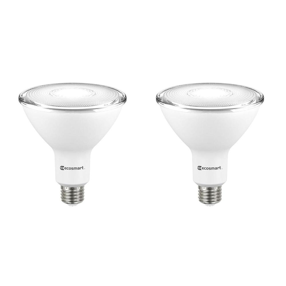 120 Watt Equivalent PAR38 Dimmable LED Flood Light Bulb, Daylight (2 Pack