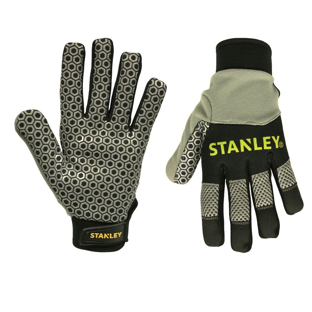 Stanley Stanley Men's Large Silicone Gripper Gloves, Gray/Black