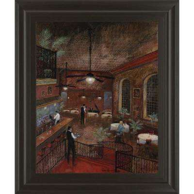 "22 in. x 26 in. ""Piano Man"" by Ruane Manning Framed Printed Wall Art"