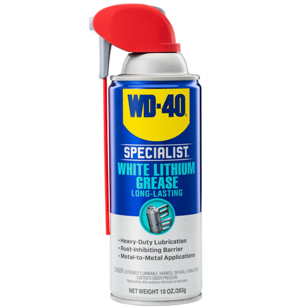 Wd 40 Specialist 10 Oz White Lithium Grease 300240 The Home Depot