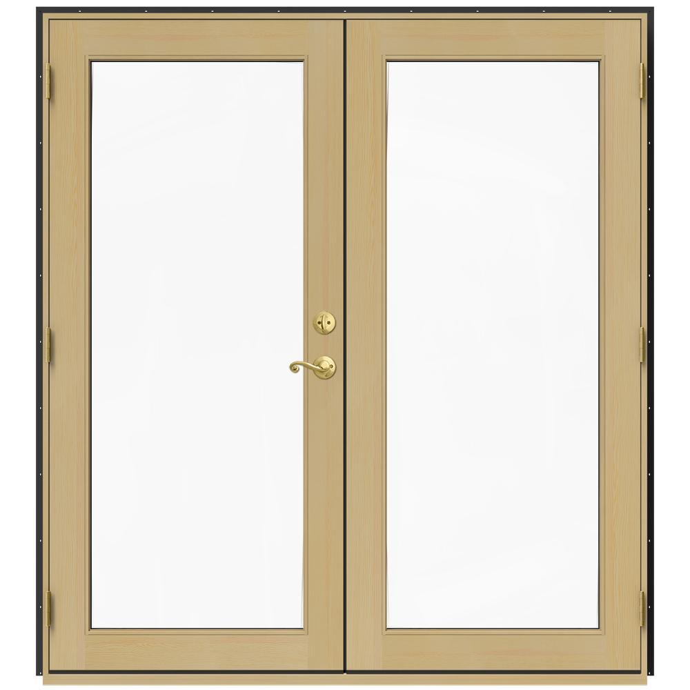 Jeld wen 71 5 in x 79 5 in w 2500 chestnut bronze right for 5 patio door