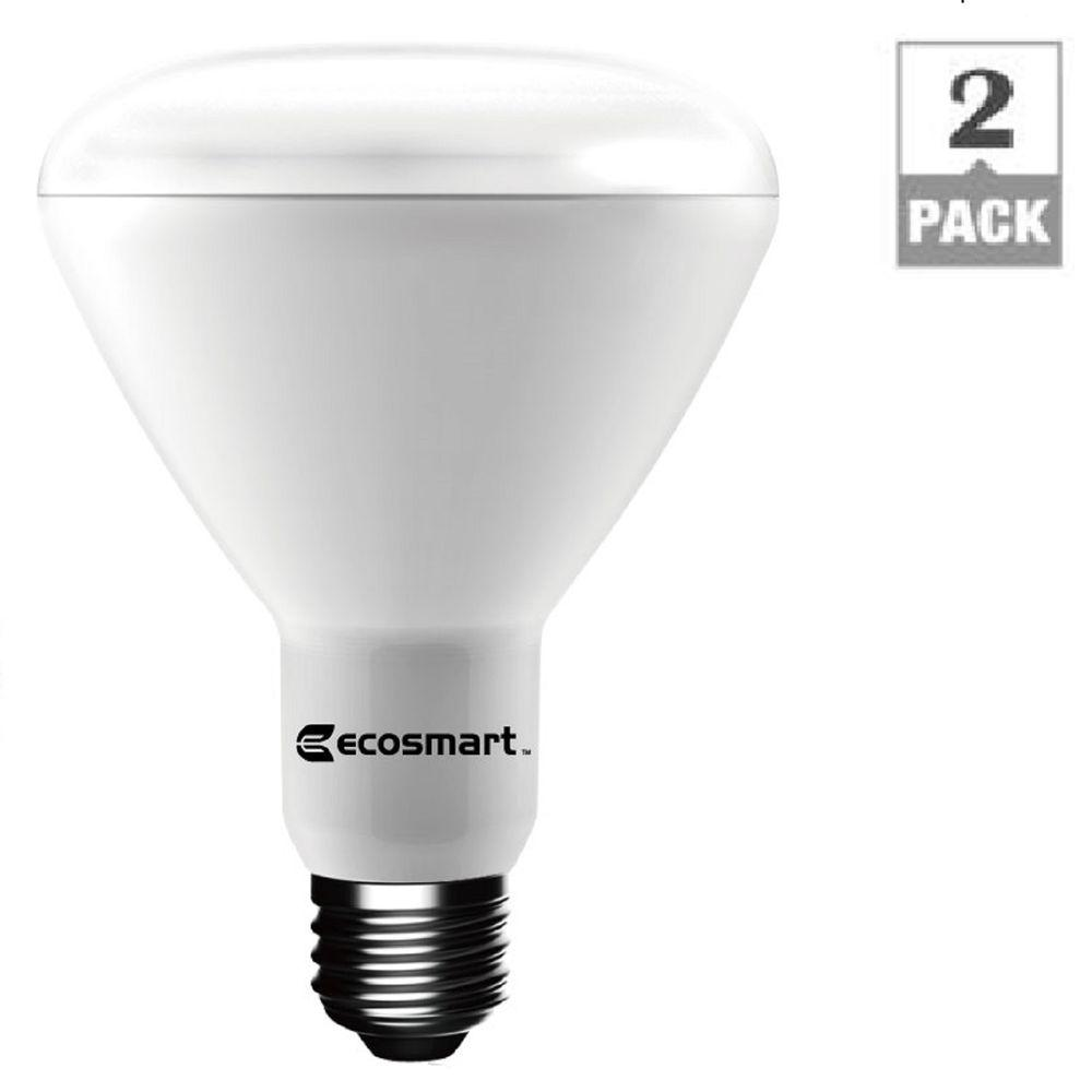 Light Bulb Home Depot: EcoSmart 75W Equivalent Soft White BR30 Dimmable LED Light