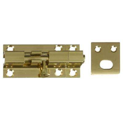 Solid Brass 2-1/4 in. Barrel Bolt