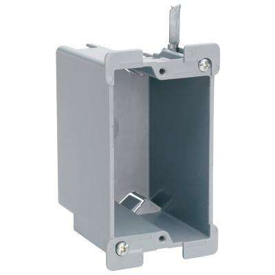 Slater Old Work Plastic 1-Gang Swing Bracket Switch and Outlet Box