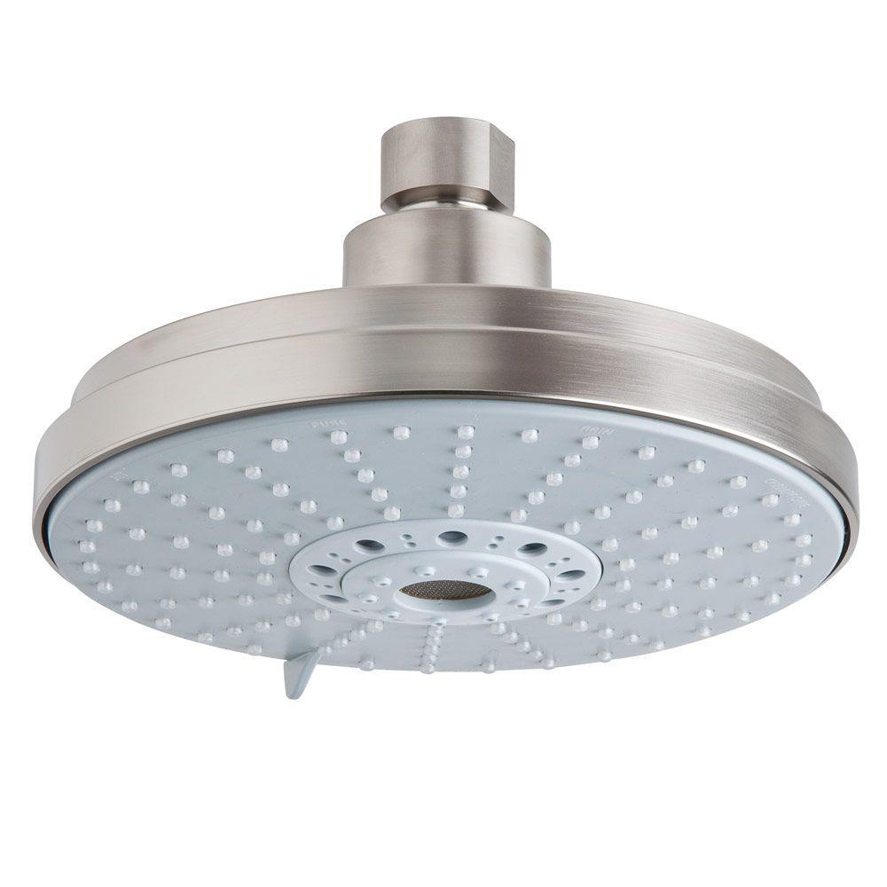 Rainshower Cosmopolitan 160 4-Spray 6.31 in. Raincan Showerhead in Brushed Nickel