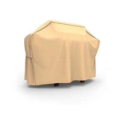 Rust-Oleum NeverWet Tan Outdoor Heavy-Duty Waterproof BBQ Grill Cover Fits Grills 55 in. W