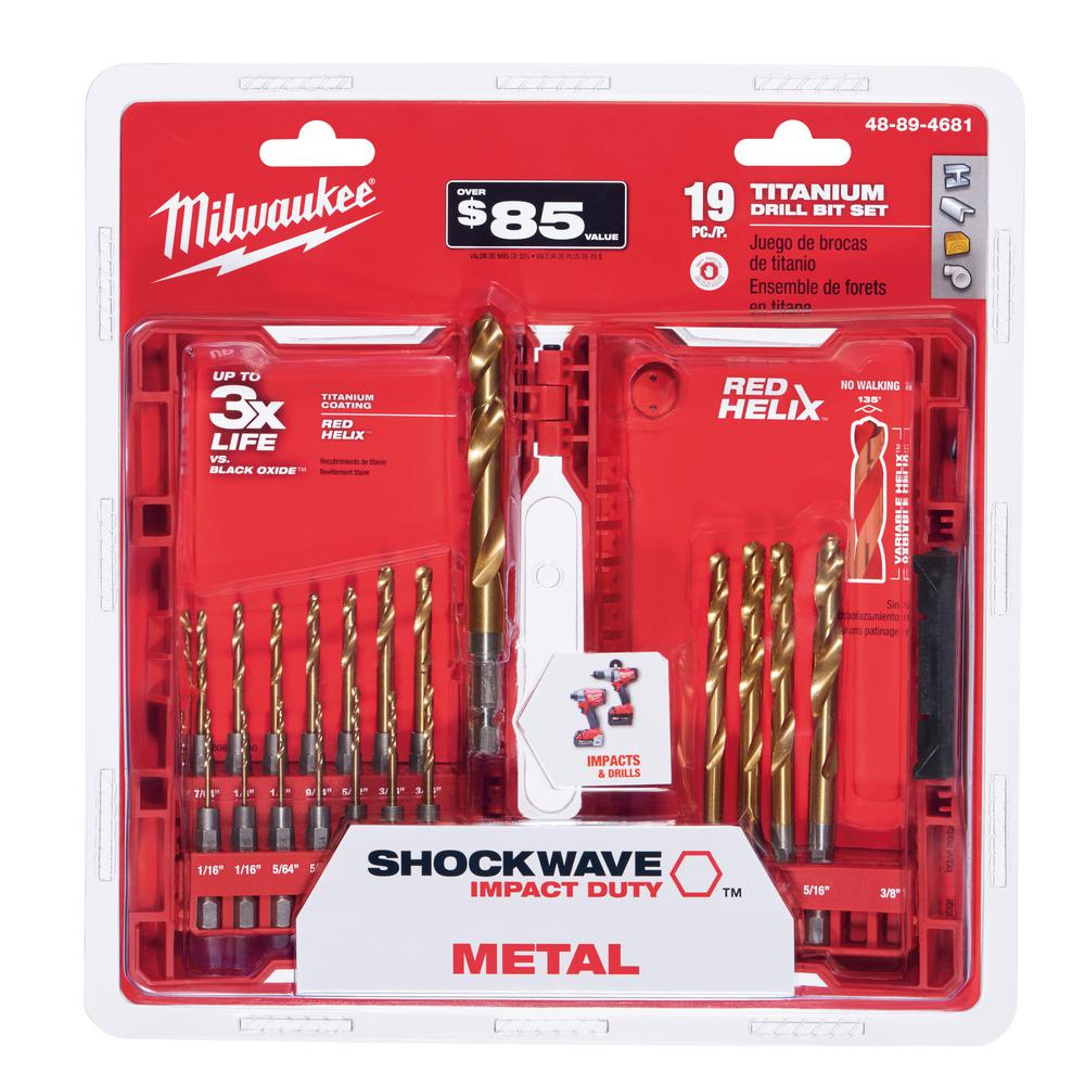 Milwaukee Shockwave Impact Duty Titanium Drill Bit Set (19-Piece)