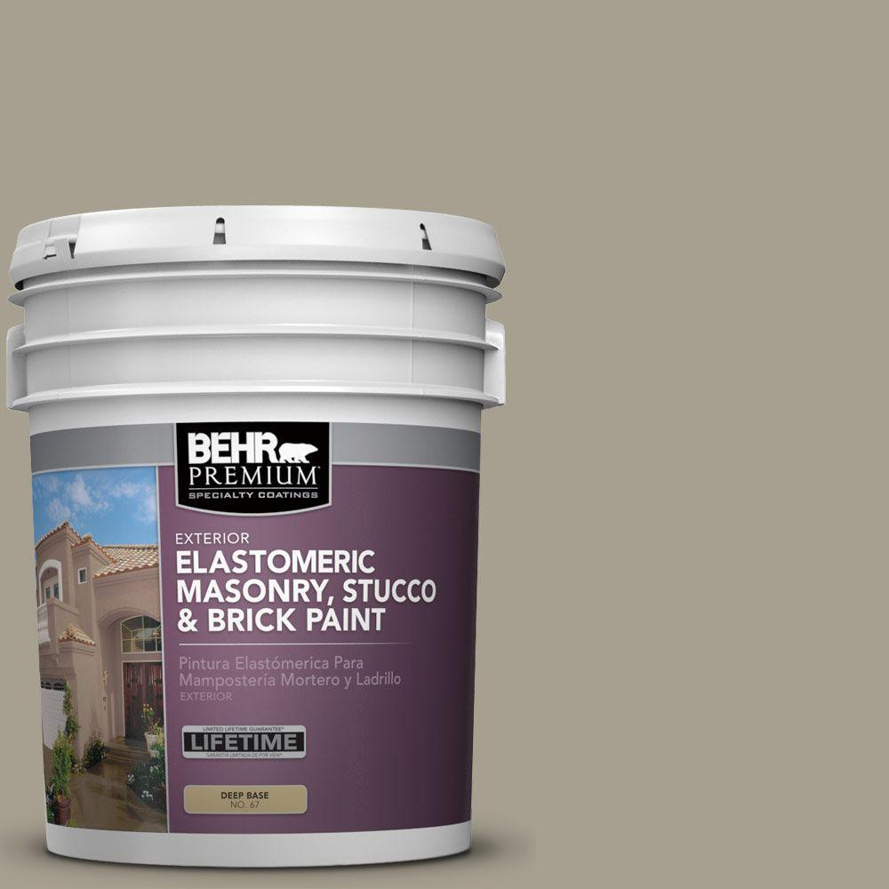 5 gal. #MS-52 Timber Elastomeric Masonry, Stucco and Brick Exterior Paint