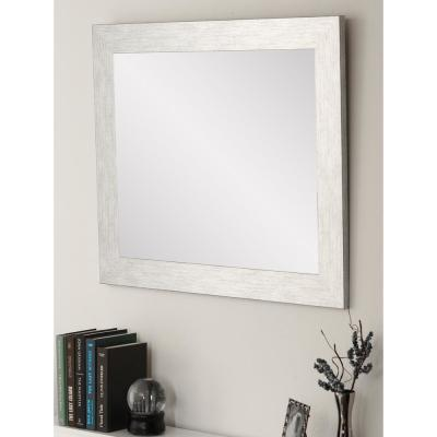 Large Rectangle Gray Hooks Modern Mirror (50 in. H x 32 in. W)