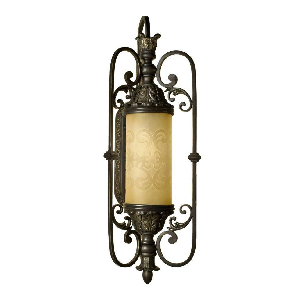 Eurofase Glenhaven Collection Wall-Mount Outdoor Antique Iron Sconce-DISCONTINUED