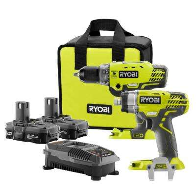 18-Volt ONE+ Lithium-Ion Hammer Drill and Impact Driver Kit