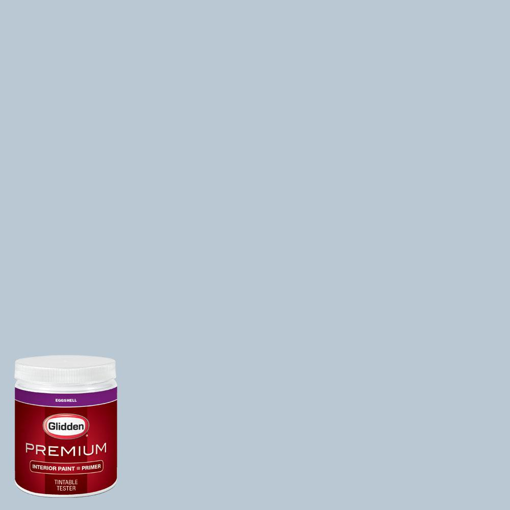 Glidden Premium 8 oz. #wnba-132C Atlanta Dream Light Blue Eggshell Interior Paint with Primer