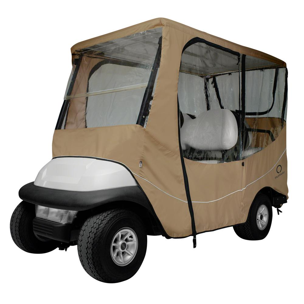 Classic accessories fairway long roof travel golf car enclosure khaki 40 046 345801 00 the for Travel gear car